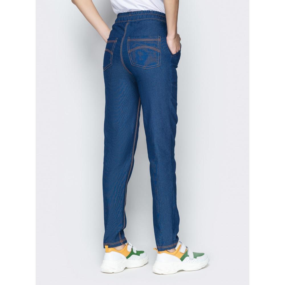 Джинсовые брюки с высокой посадкой фото 3