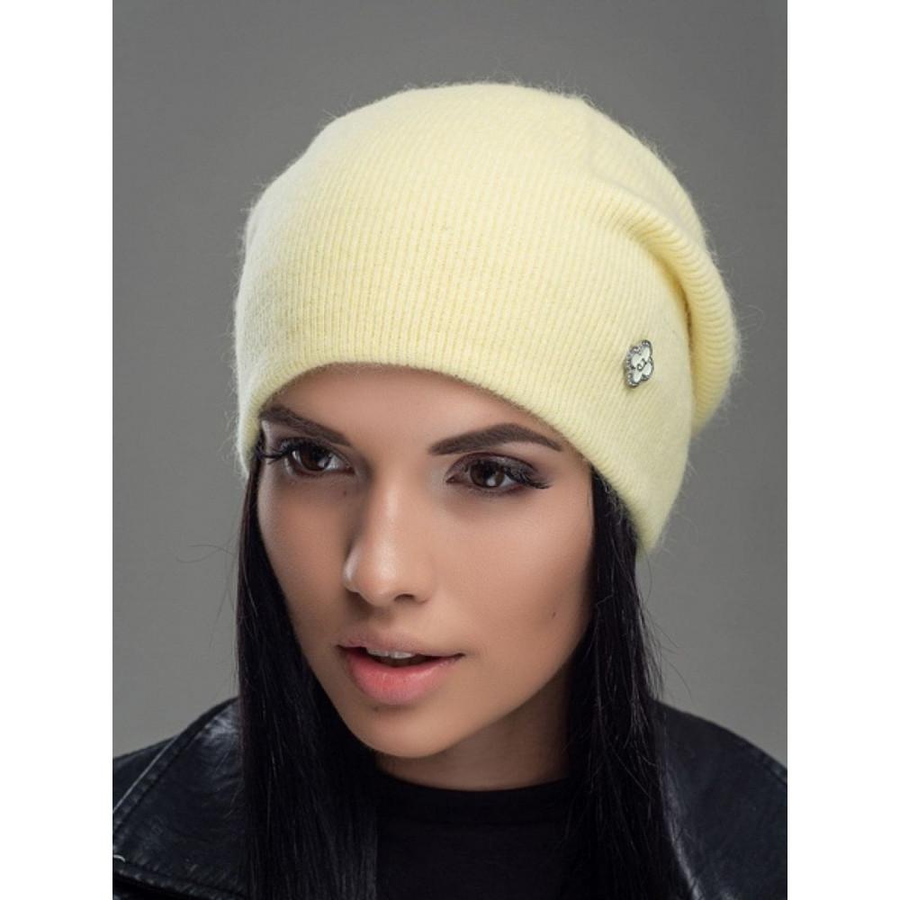 Желтая шапка бини Нарцис  фото 1