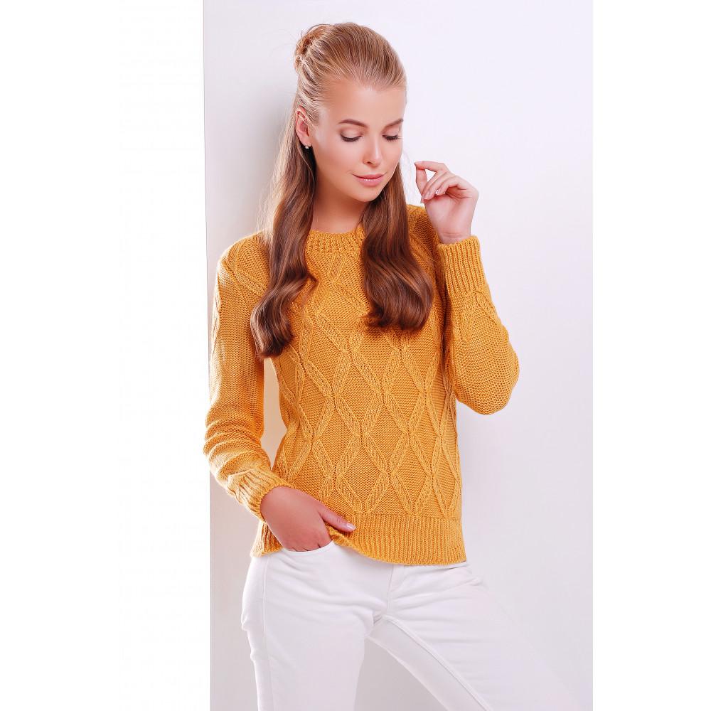 Горчичный свитер Полина фото 1