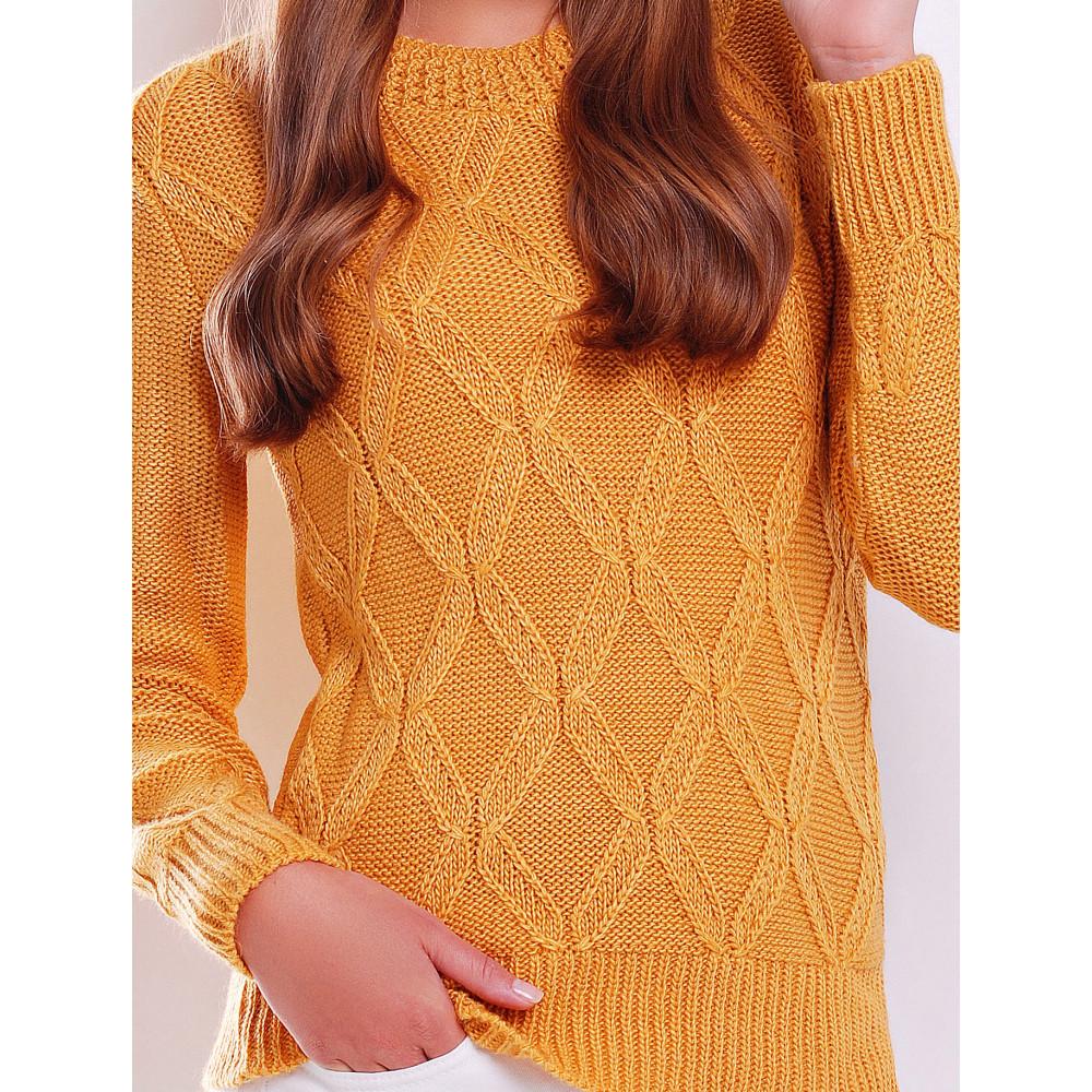 Горчичный свитер Полина фото 2