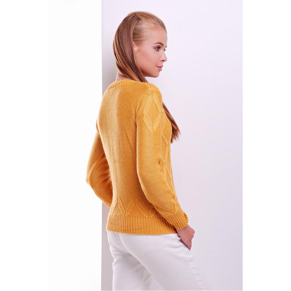 Горчичный свитер Полина фото 3
