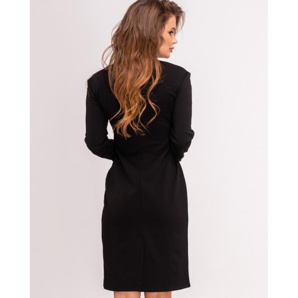 Изумительное платье-футляр с контрастной вставкой фото 2