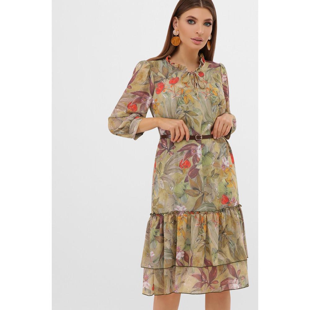 Интересное шифоновое платье Элисон фото 1