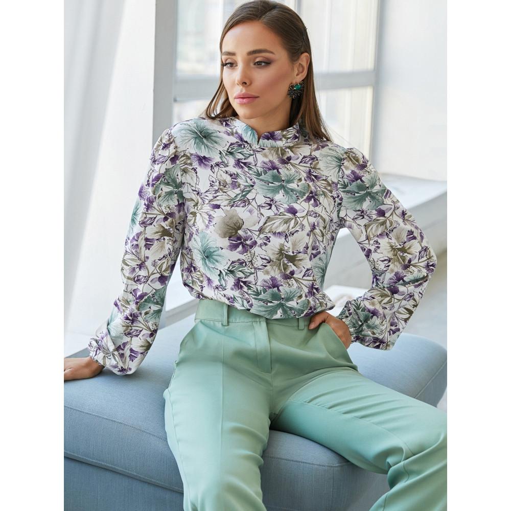 Блузка с ярким флористическим рисунком Ясмин фото 1