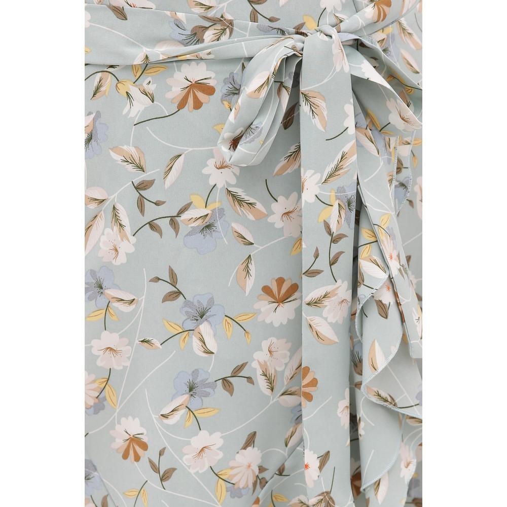 Голубое платье с цветами София фото 4