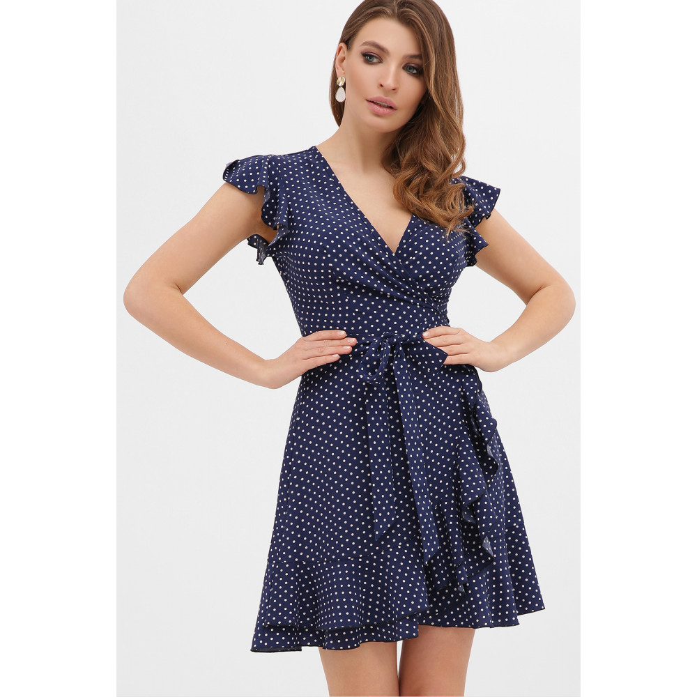 Синее платье на запах София  фото 2