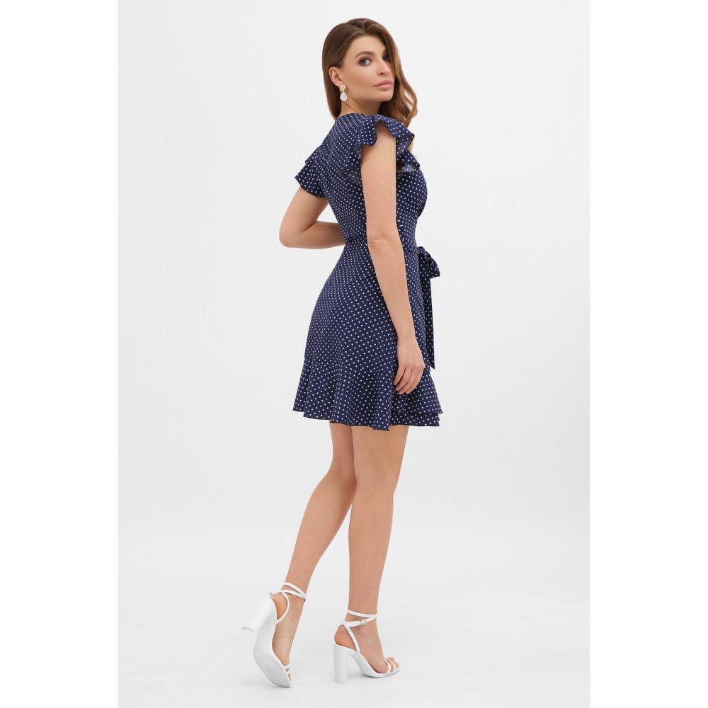 Синее платье на запах София  фото 3