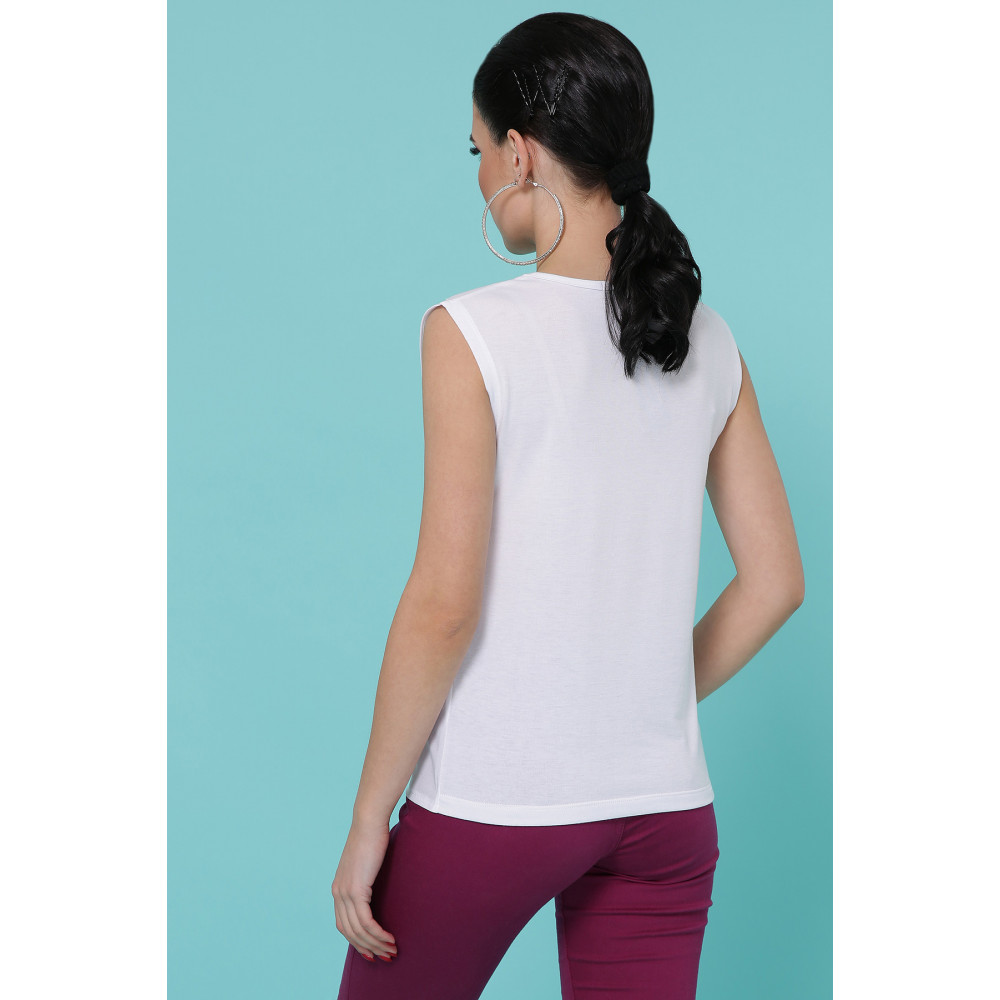 Белая футболка с принтом Парфюм фото 2