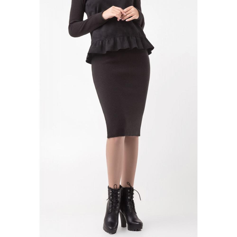 Классическая теплая юбка-карандаш фото 1