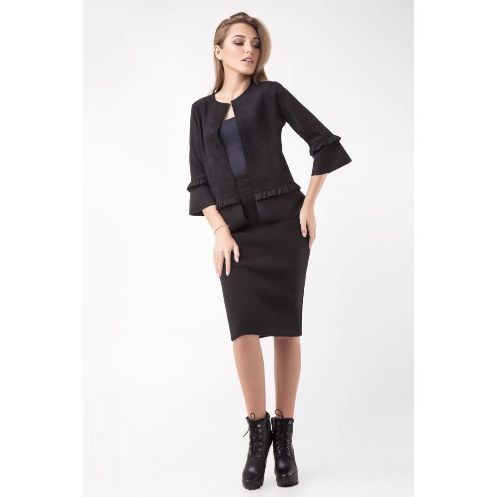 Классическая теплая юбка-карандаш фото 2