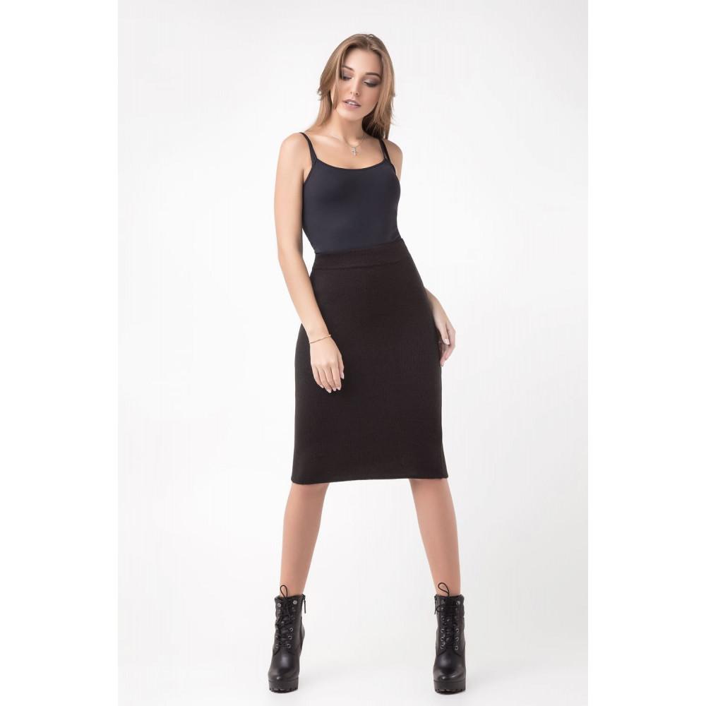 Классическая теплая юбка-карандаш фото 4
