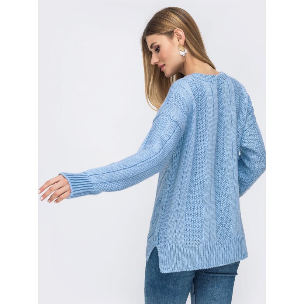 Изумительный небесный свитер Клео фото 2