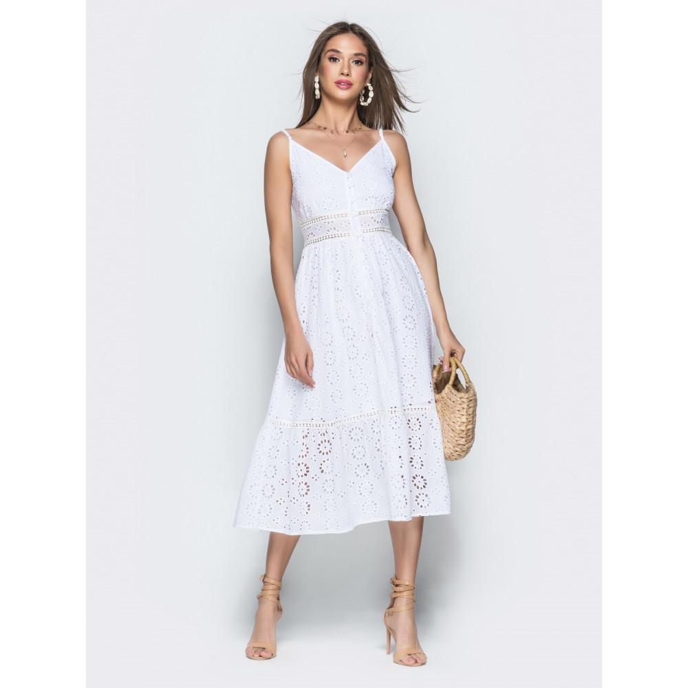 Белоснежное платье из прошвы Душечка фото 1