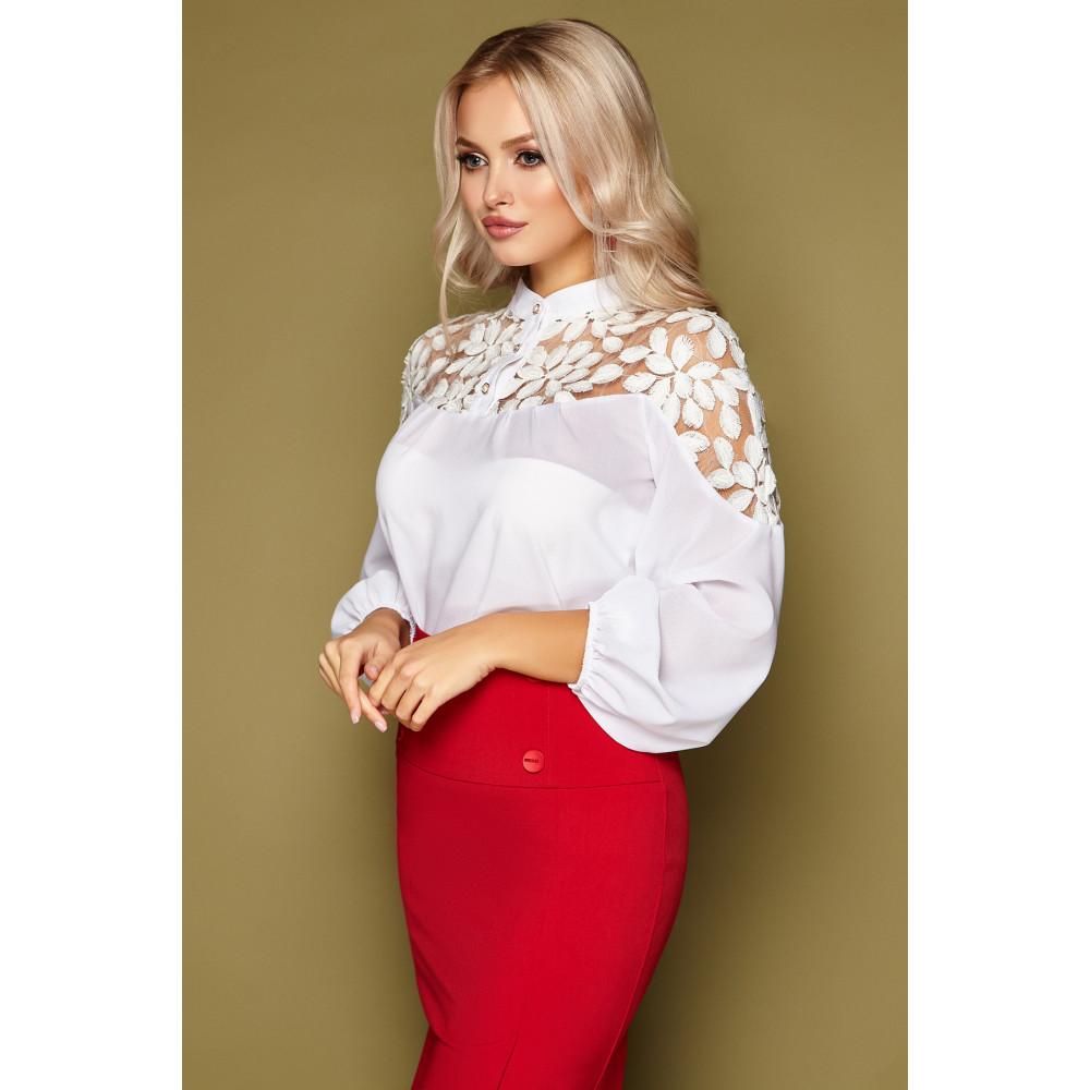 Нарядная блузка с воротником-стойкой Аяна фото 2