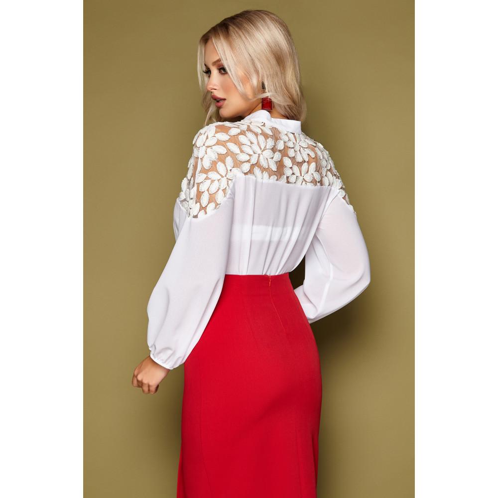 Нарядная блузка с воротником-стойкой Аяна фото 3
