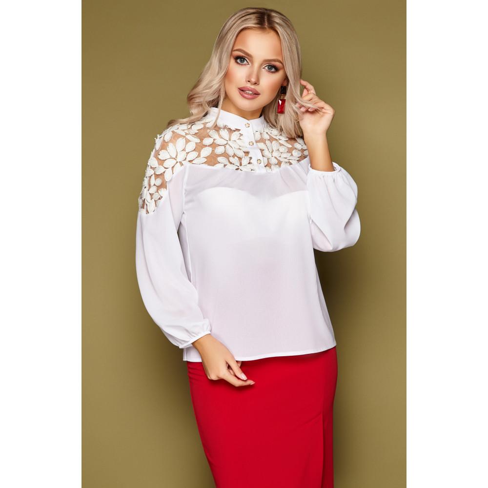 Нарядная блузка с воротником-стойкой Аяна фото 4