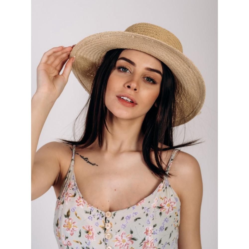 Бежевая шляпа канотье Эрика  фото 1