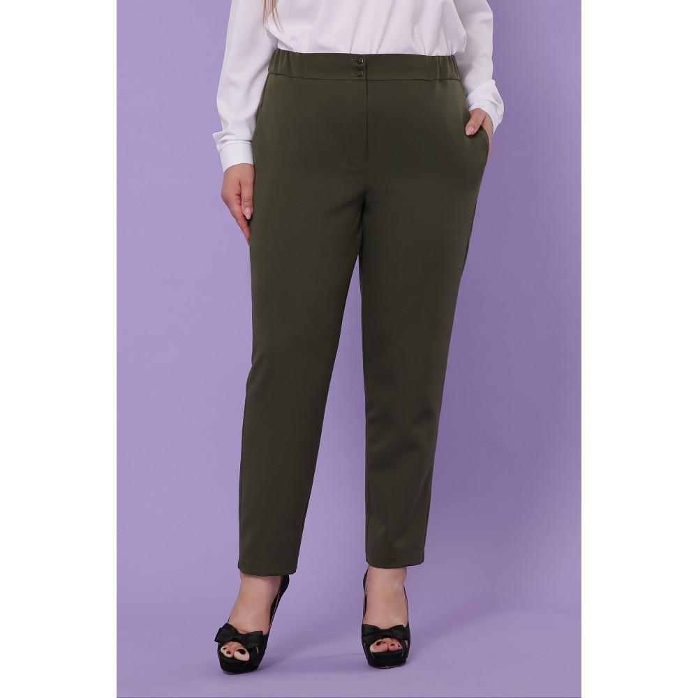Классические брюки цвета хаки Бриджит фото 1