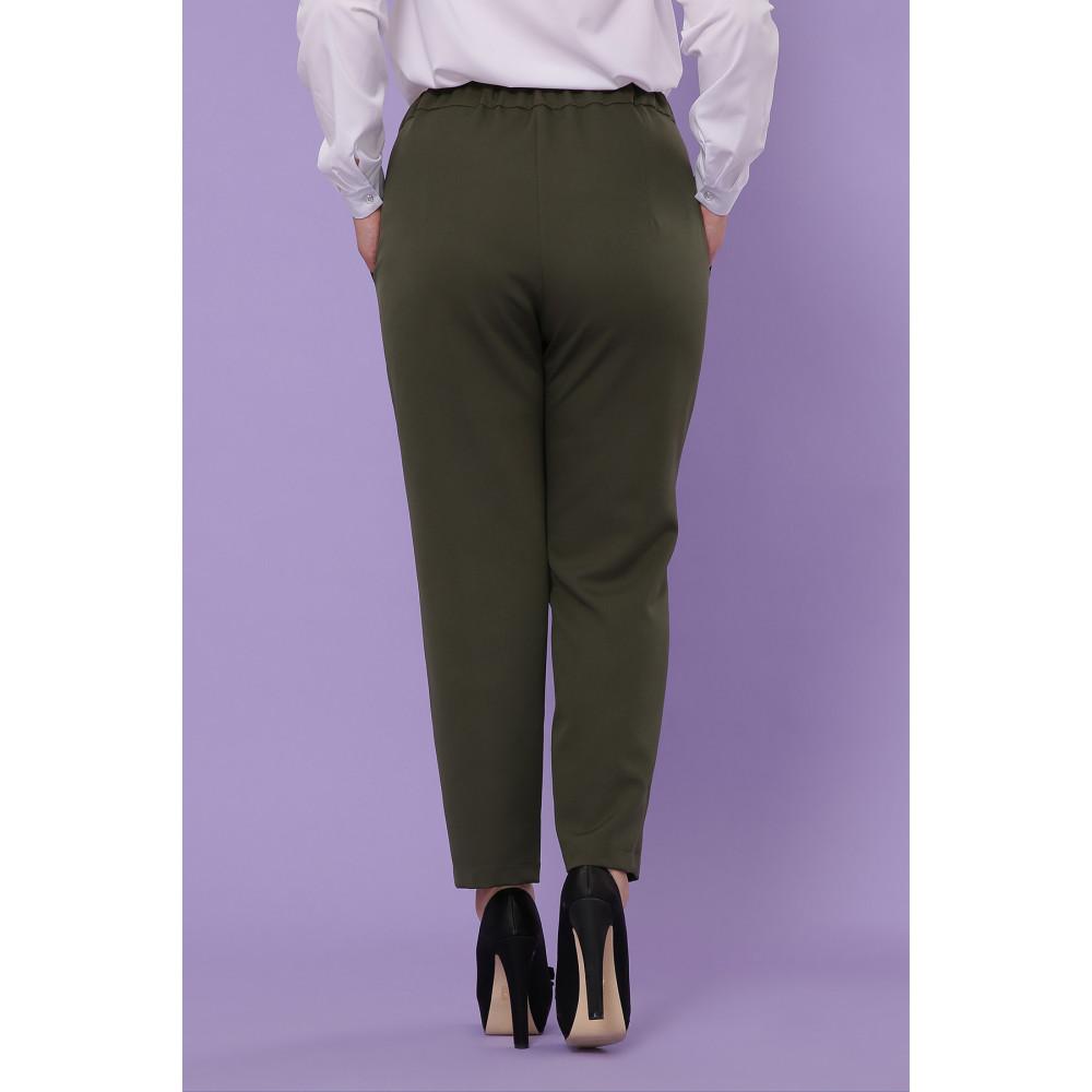 Классические брюки цвета хаки Бриджит фото 2