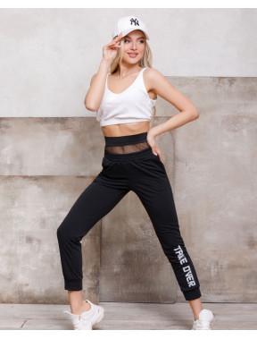Спортивные брюки с вставкой на талии