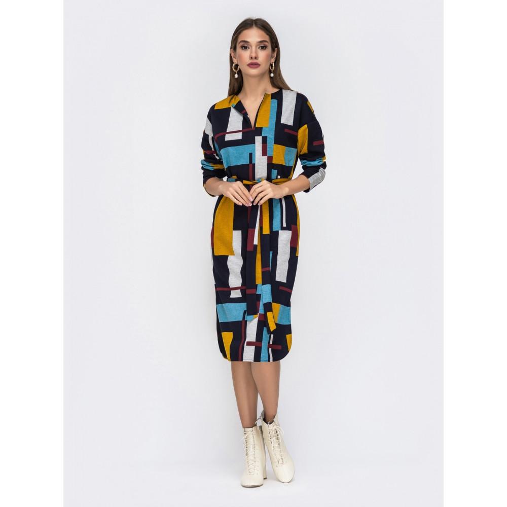 Интересное платье в стиле color block фото 1