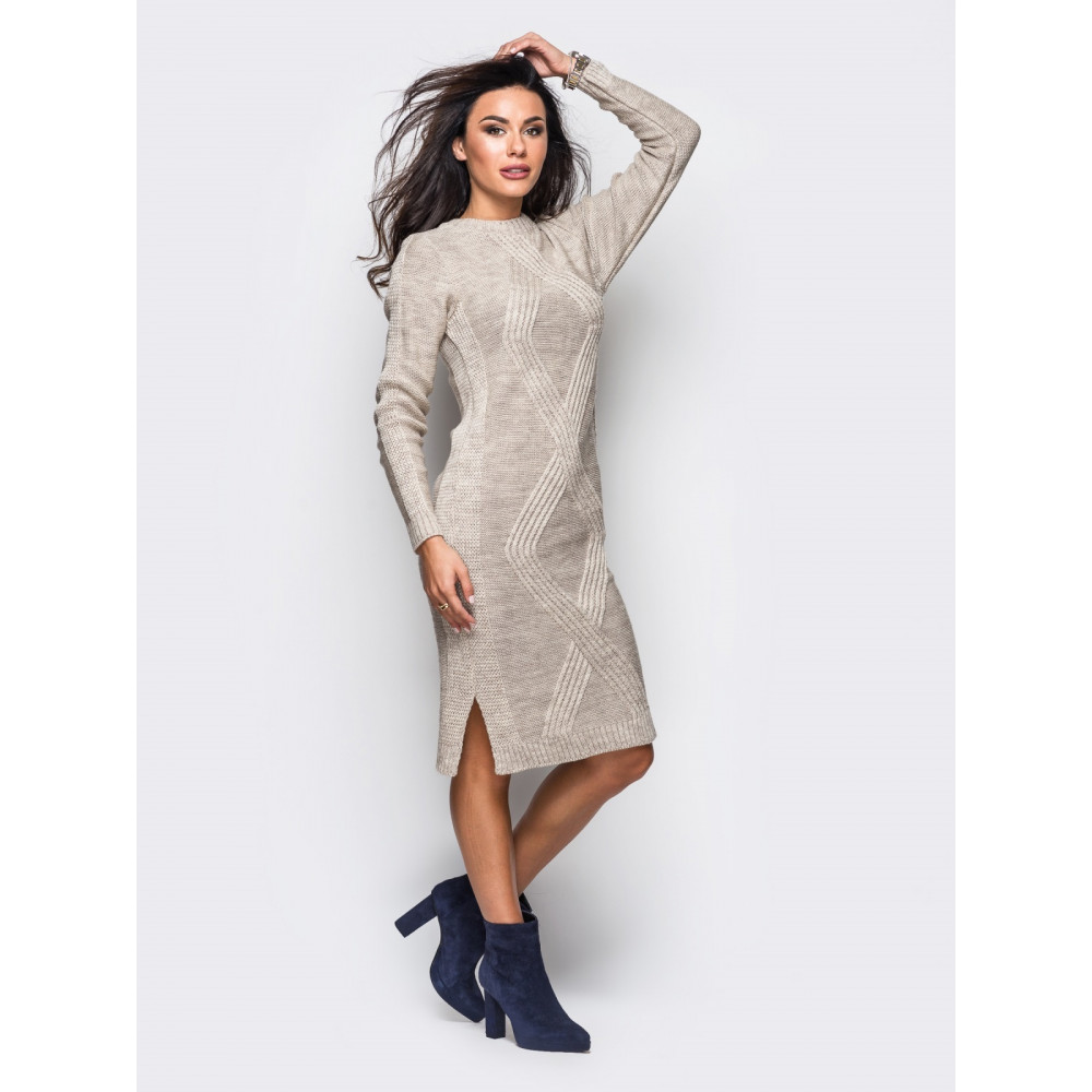 Красивое вязаное платье Алисия фото 2