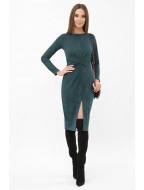 Силуетна сукня-міді із замші Етері