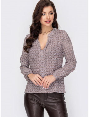 Шифонова блузка з принтом Рамона