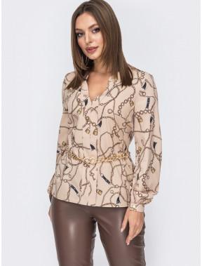 Легка блузка з принтом Рамона