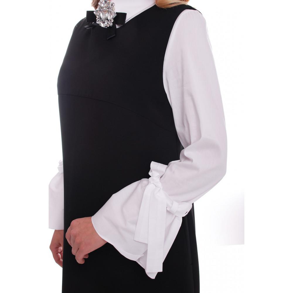Лаконичный черный сарафан Санта фото 4