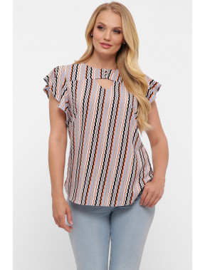 Жіночна блуза з незвичним принтом Аліна