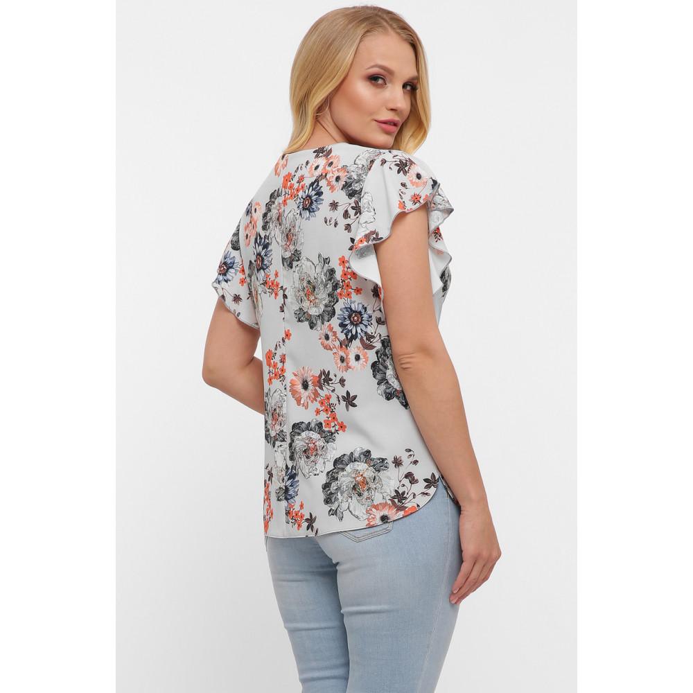 Блузка с женственным принтом Алина фото 5