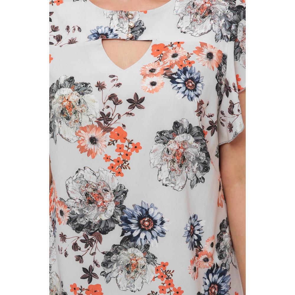 Блузка с женственным принтом Алина фото 7