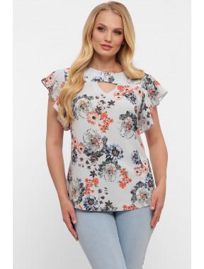 Блуза з жіночним принтом Аліна