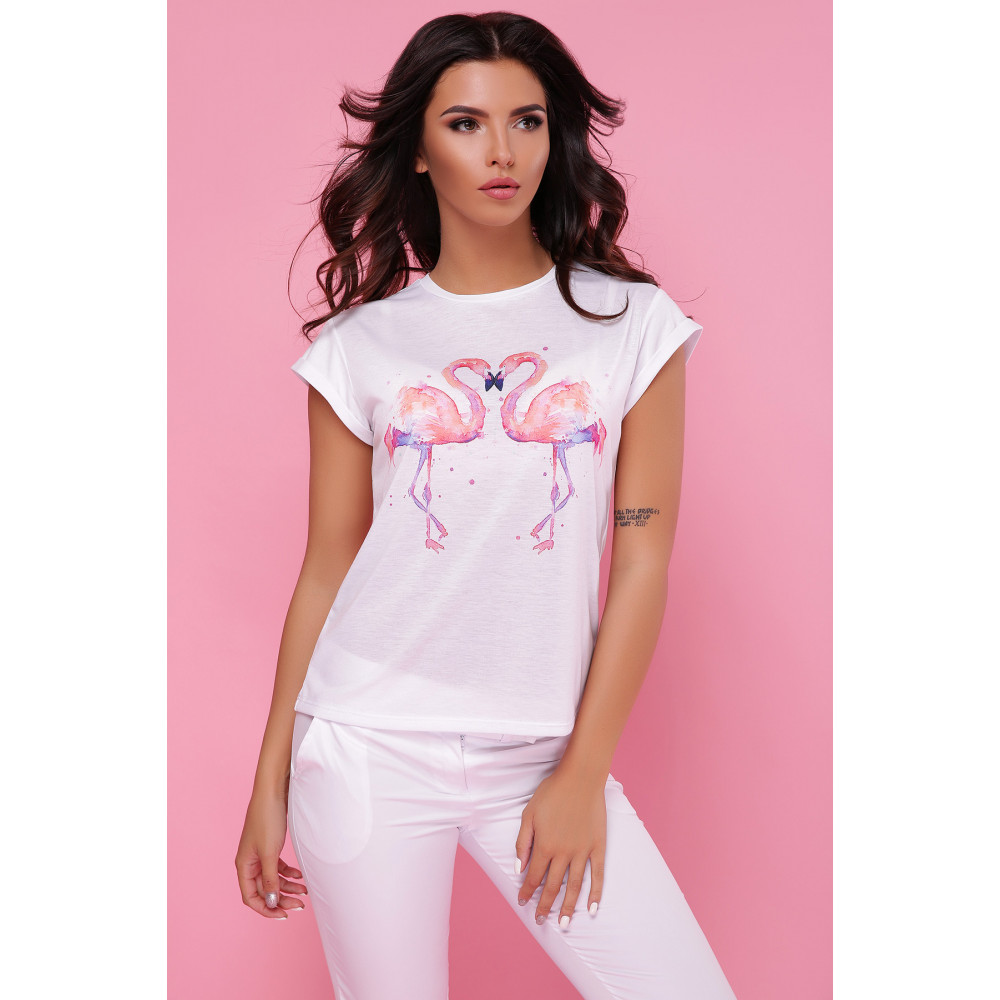 Летняя футболка Два фламинго фото 1