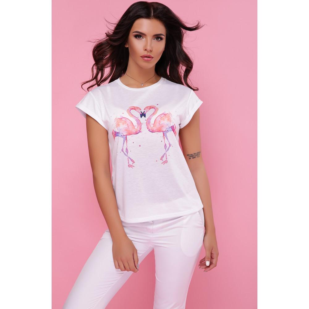 Летняя футболка Два фламинго фото 2