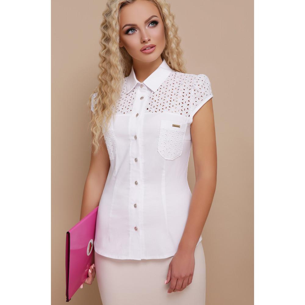 Белая блузка из натуральной ткани Фауста фото 2