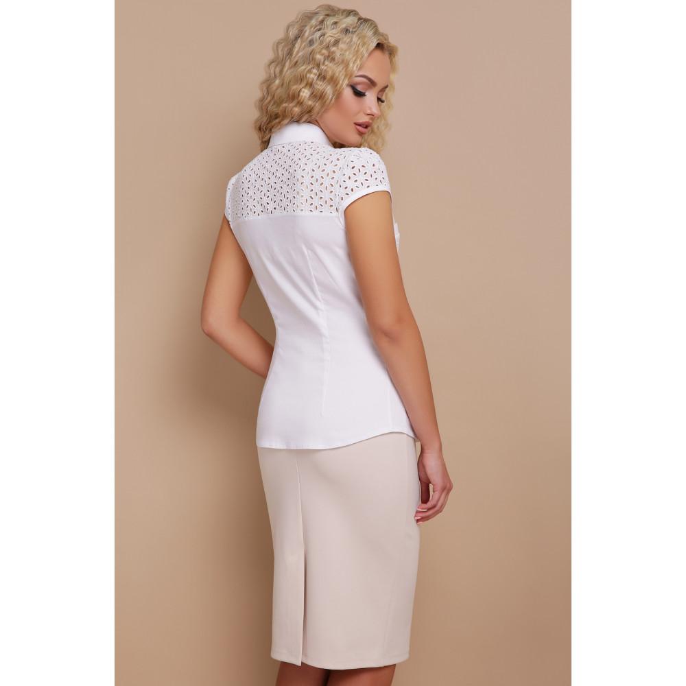 Белая блузка из натуральной ткани Фауста фото 3