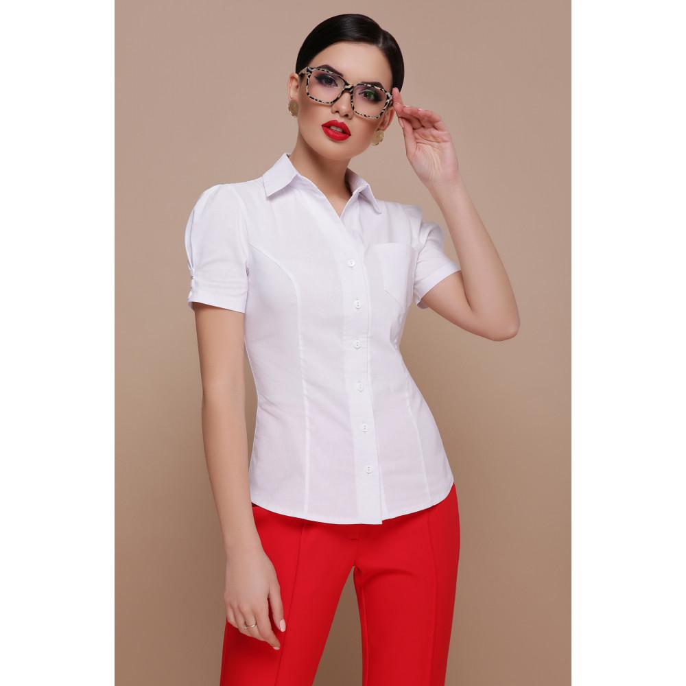 Белая рубашка из бенгалина Эльза фото 1
