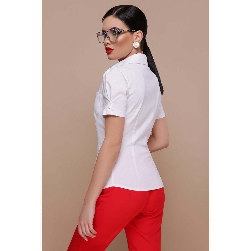 Белая рубашка из бенгалина Эльза фото 2
