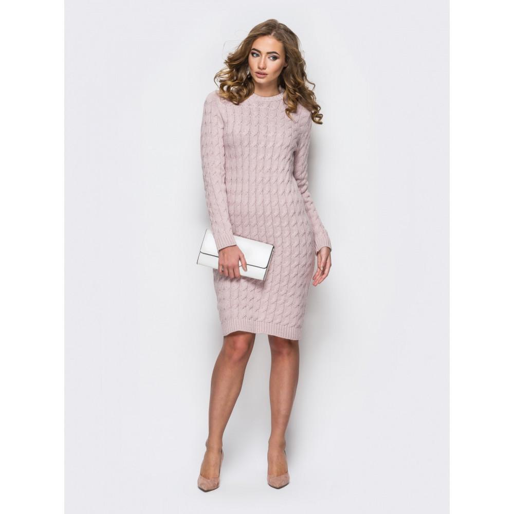 Женственное вязаное платье из шерсти фото 1