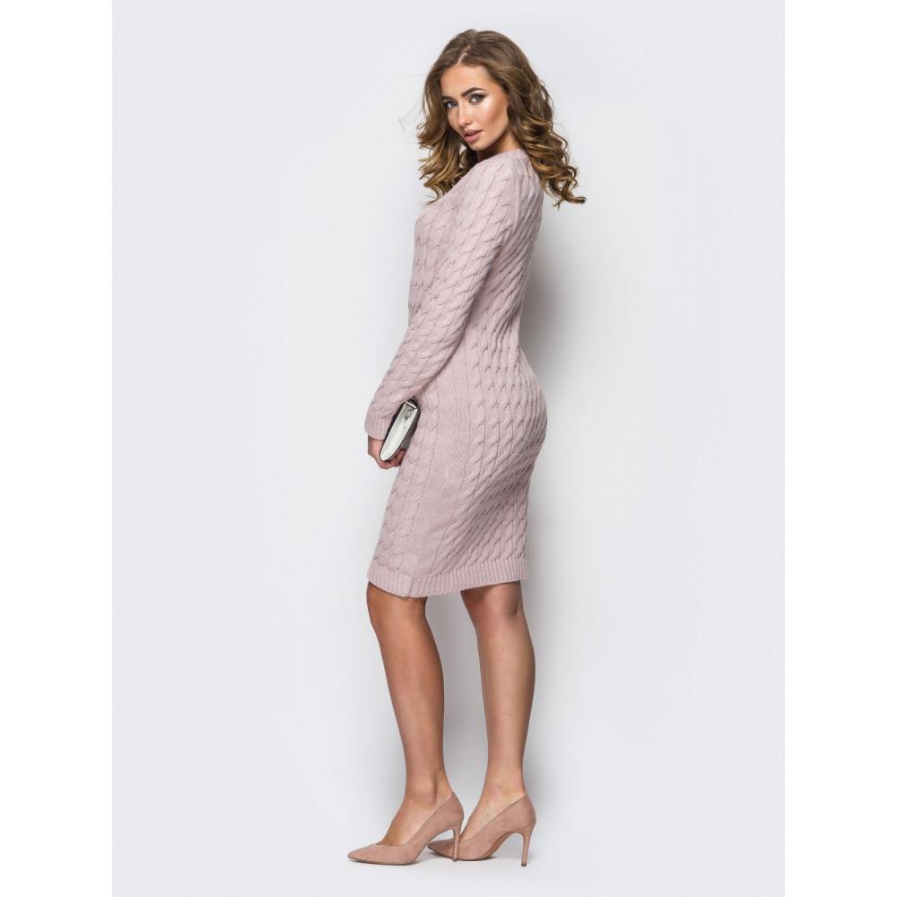 Женственное вязаное платье из шерсти фото 2