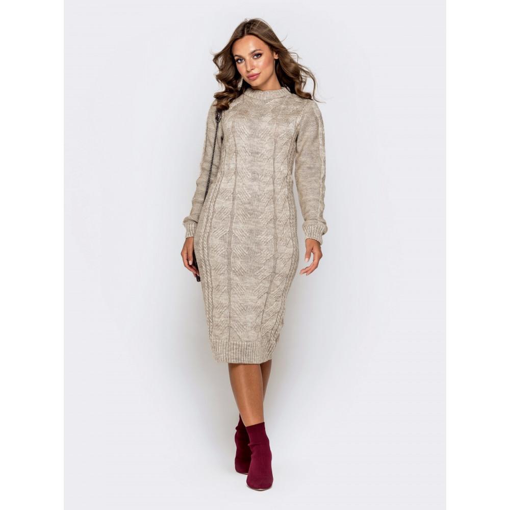Вязаное милое платье Соландж фото 2