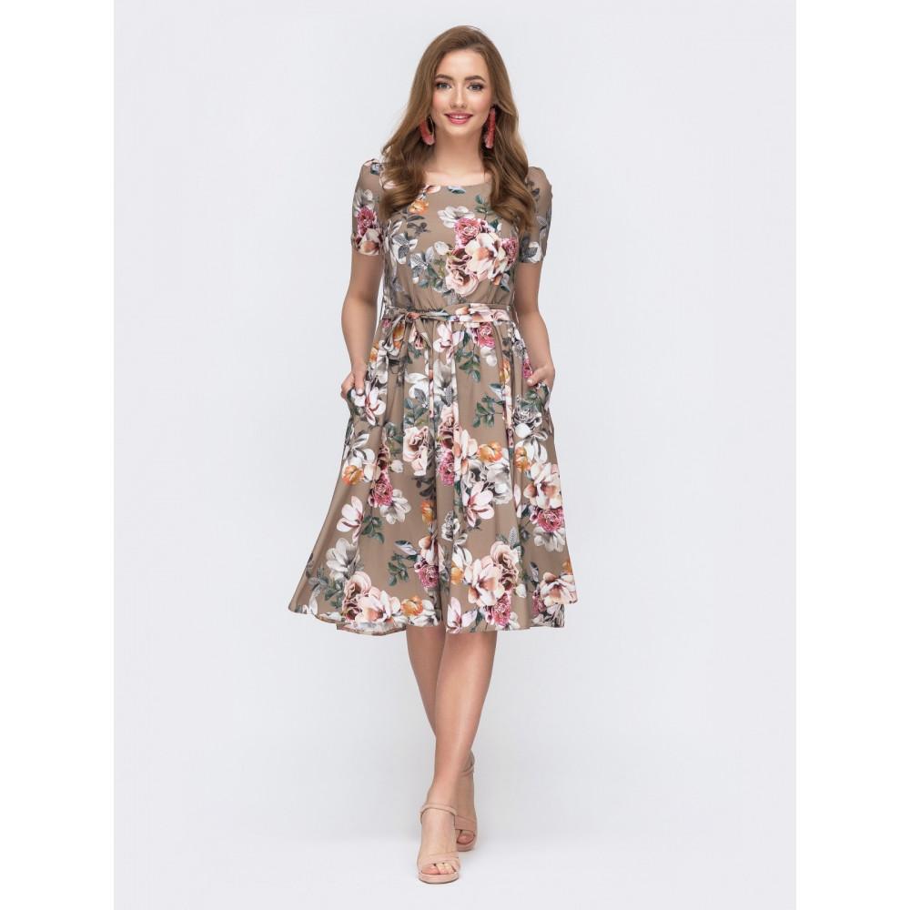 Воздушное платье с юбкой полусолнце фото 1