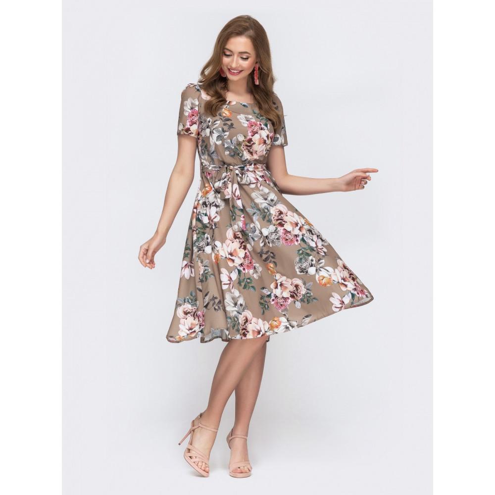 Воздушное платье с юбкой полусолнце фото 2
