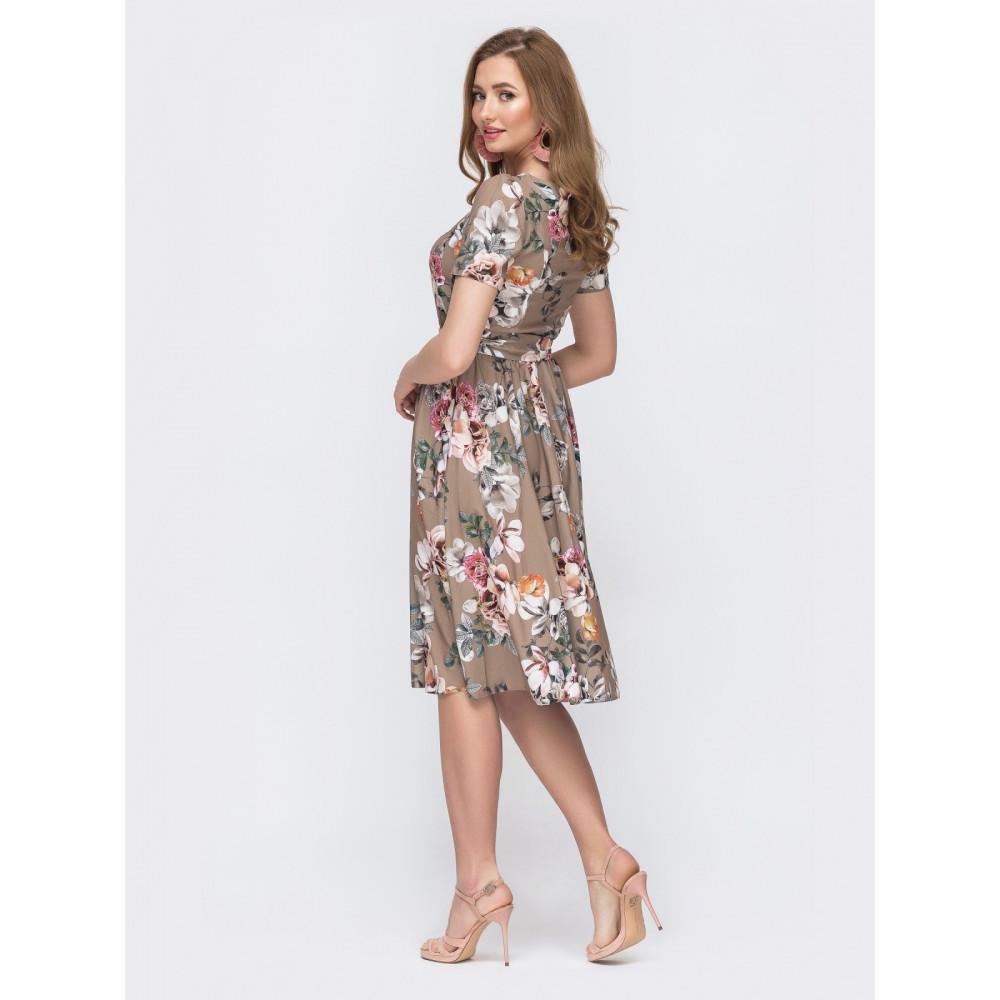Воздушное платье с юбкой полусолнце фото 3