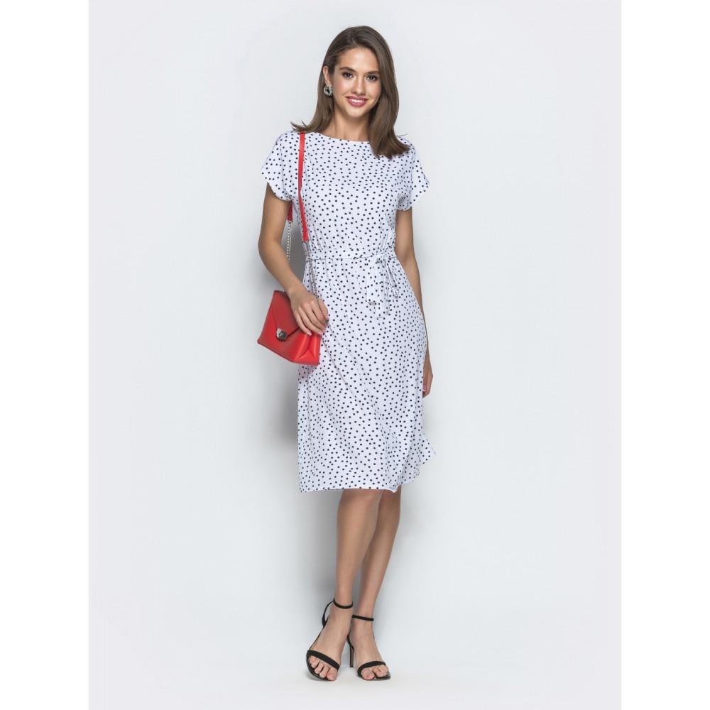 Белое платье в горошек Лаура фото 1