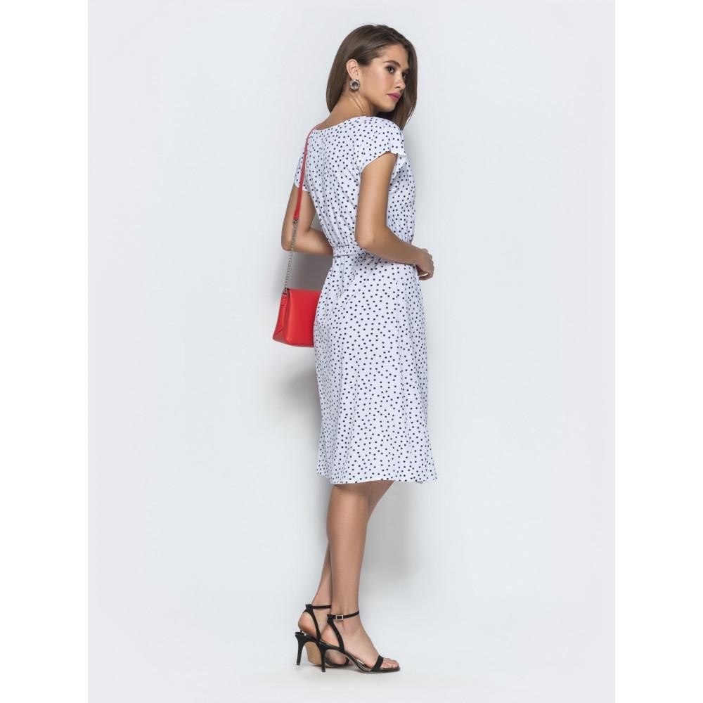 Белое платье в горошек Лаура фото 3
