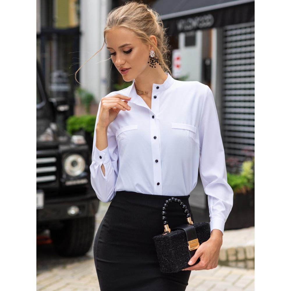 Классическая белая рубашка Адела фото 2