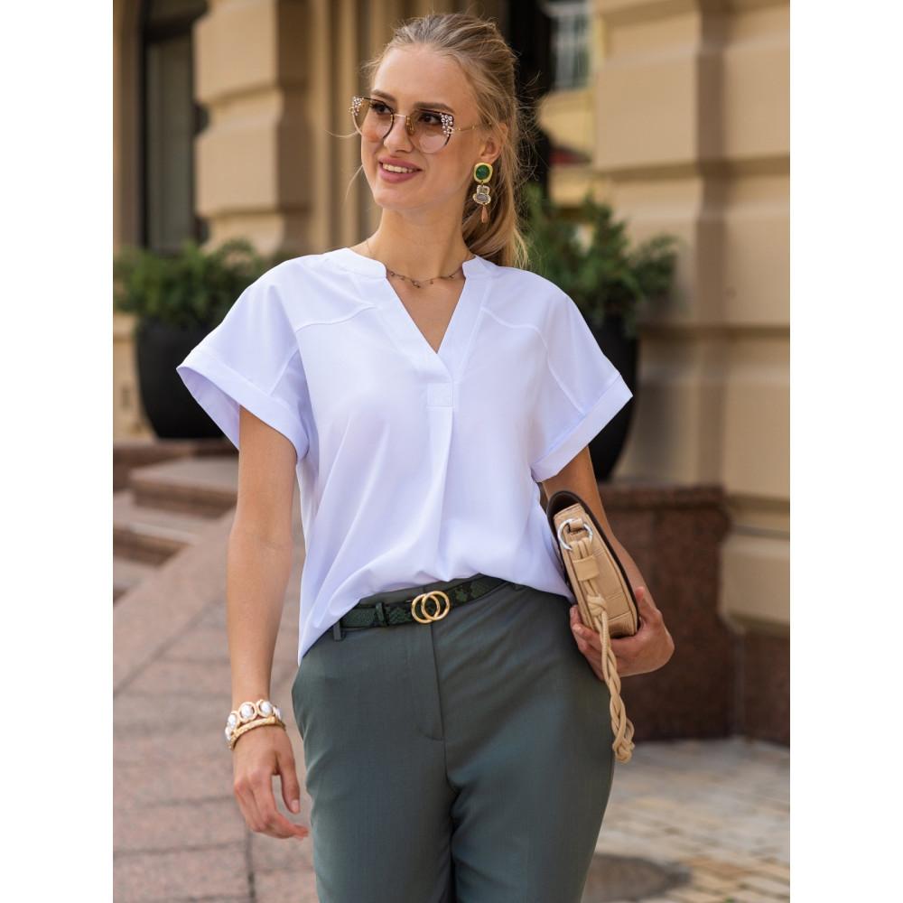 Базовая белая блузка Алма фото 1